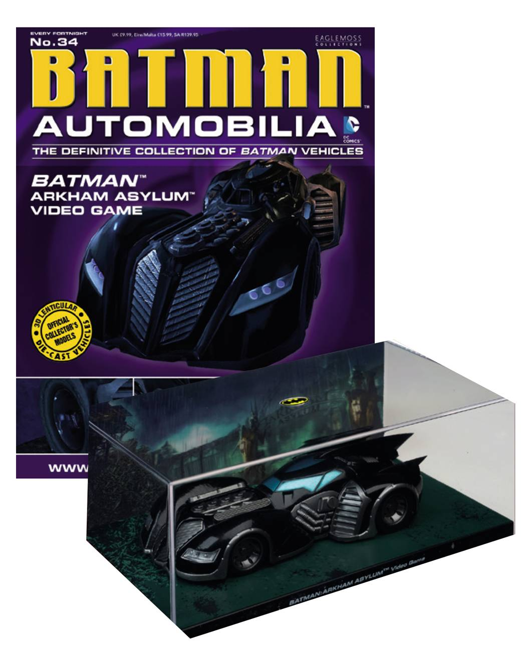 Eaglemoss DC Comics Automobilia #034 Arkham Asylum Video Game
