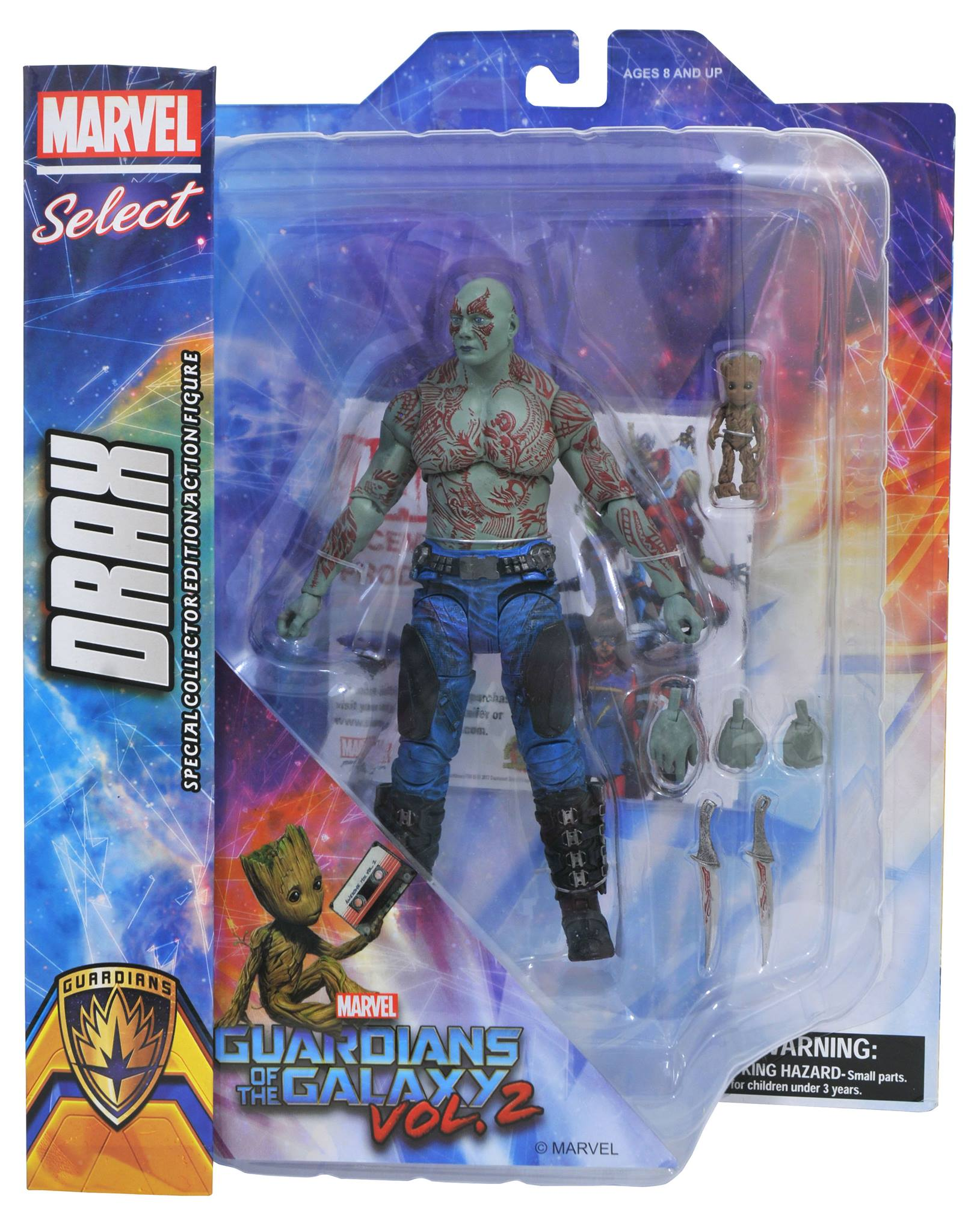 Marvel Select Guardians Drax & Baby Groot Action Figure