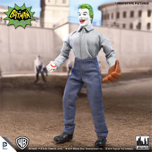 "Figures Toy Company Batman 1966 Joker Prison Softball 8"" Figure"