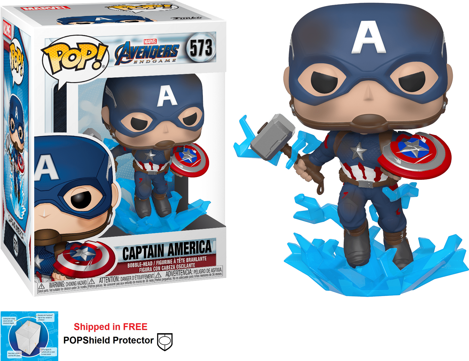 Funko POP Marvel Avengers Endgame Captain America Figure - #573