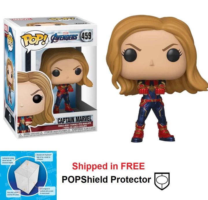 Funko POP Marvel Avengers Endgame Captain Marvel Figure - #459