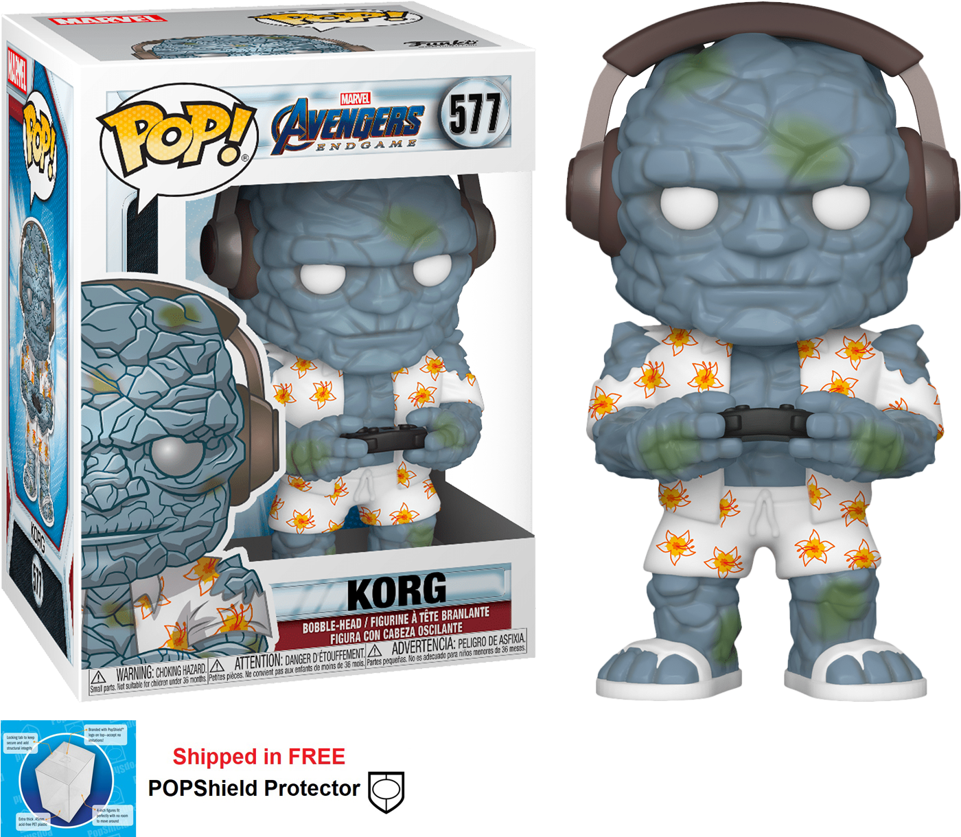 Funko POP Marvel Avengers Endgame Korg Figure - #577