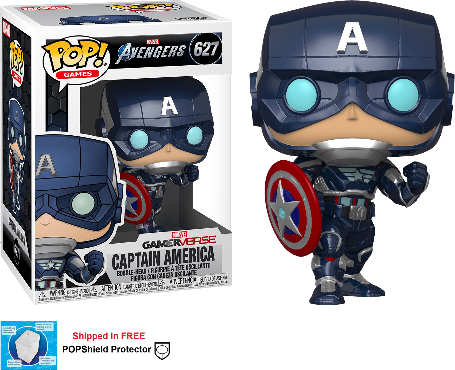 Funko POP Marvel Avengers Gamerverse Captain America - #627