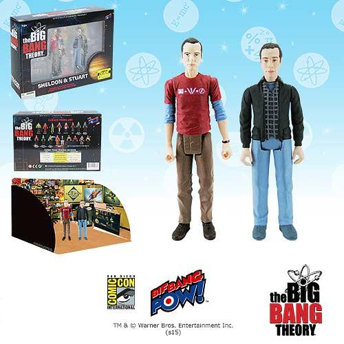 Bif Bang Pow Big Bang Theory Sheldon & Stewart EX Figures