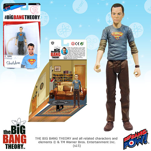 Big Bang Theory Sheldon Superman 3 3/4-Inch Figure