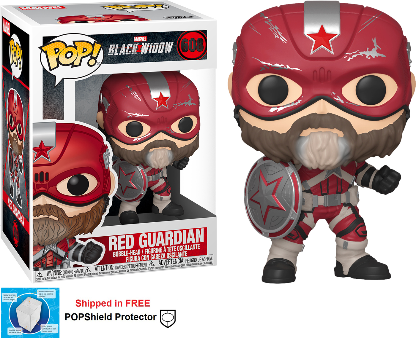 Funko POP Marvel Black Widow Movie Red Guardian - #608