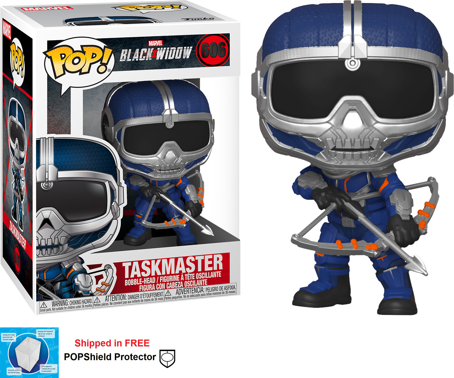 Funko POP Marvel Black Widow Movie Taskmaster - #606