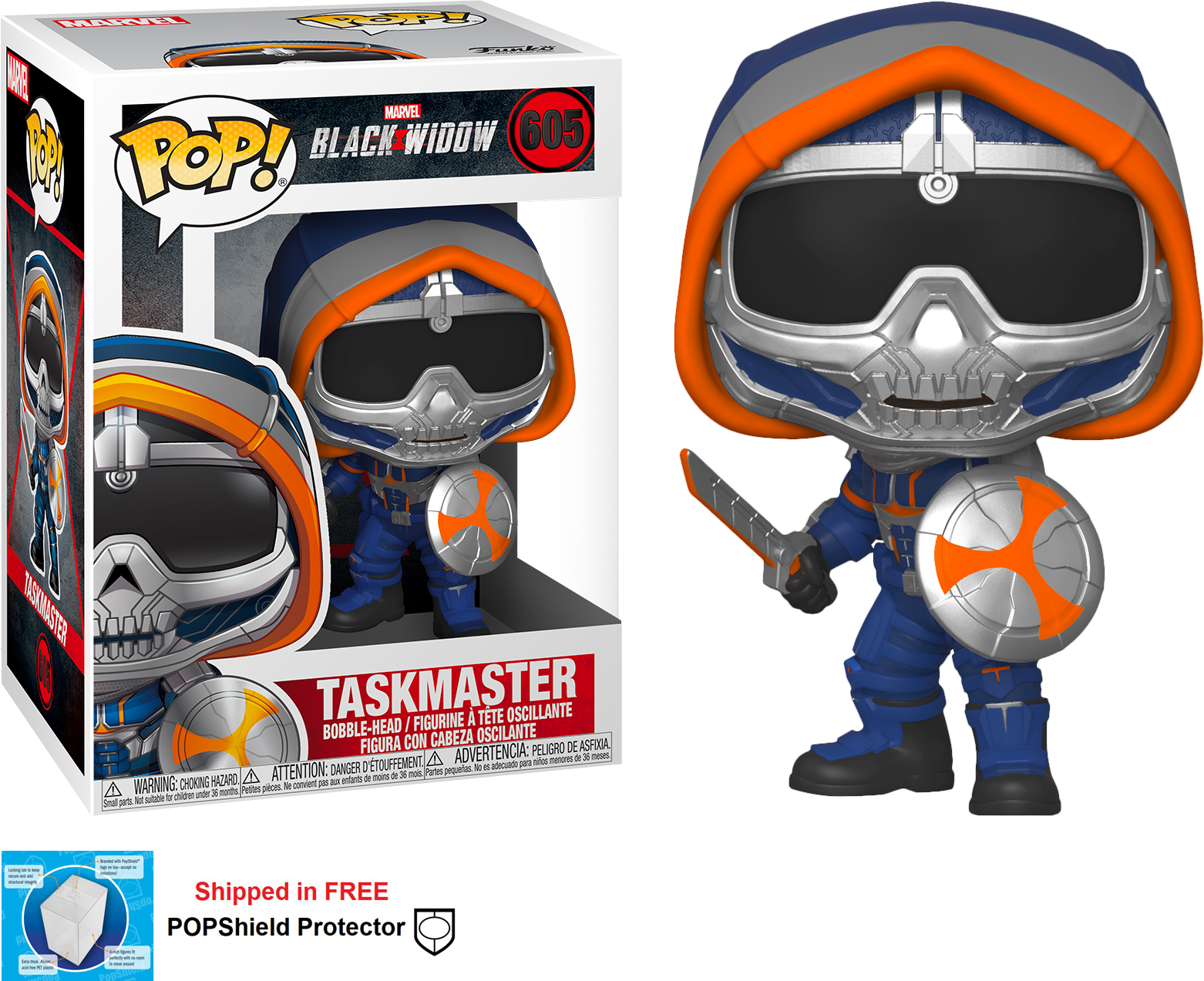 Funko POP Marvel Black Widow Movie Taskmaster - #605