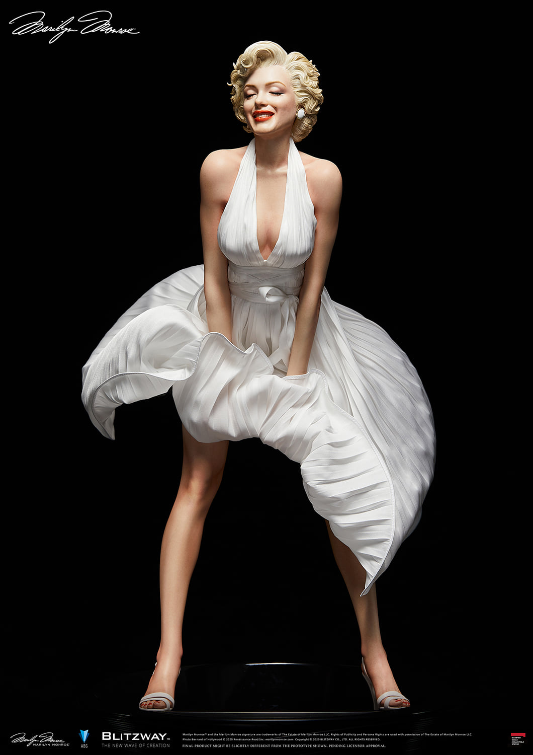 Pre-Order Blitzway Marilyn Monroe 1/4 Superb Scale Statue