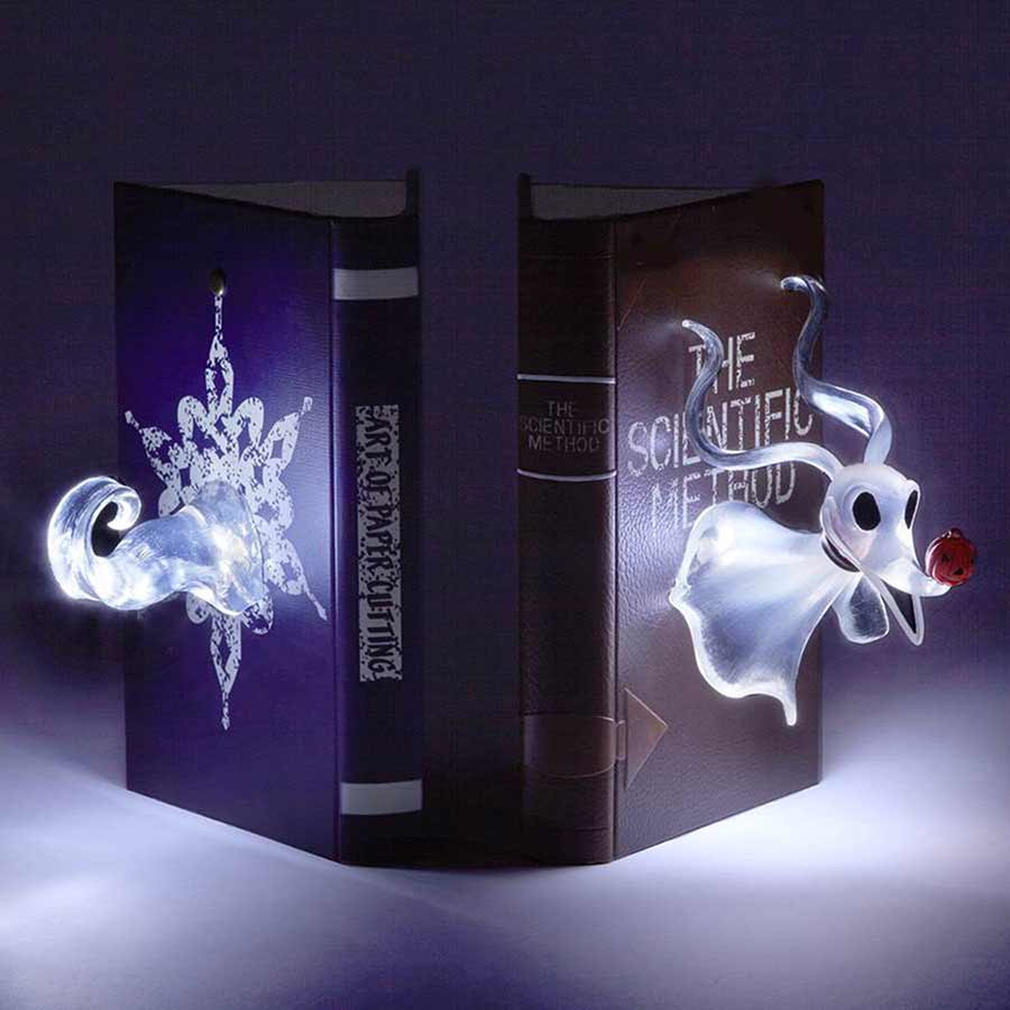Disney Showcase Nightmare Before Christmas Zero Lightup Bookends