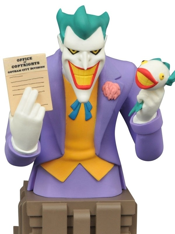 Diamond DC Comics Batman Animated Joker Laughing Fish Bust