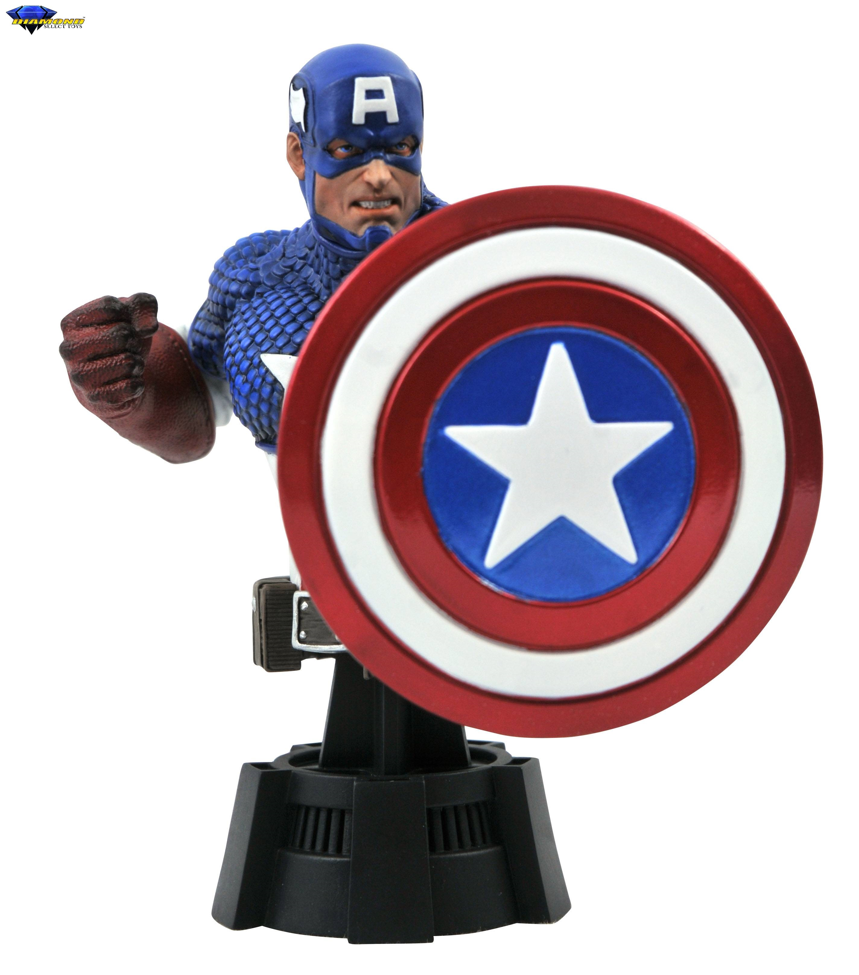 Pre-Order Diamond Marvel Captain America Bust