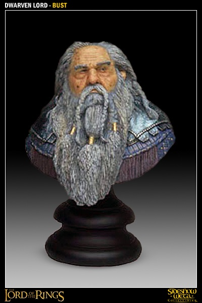 Weta Lord of the Rings Dwarven Lord Bust