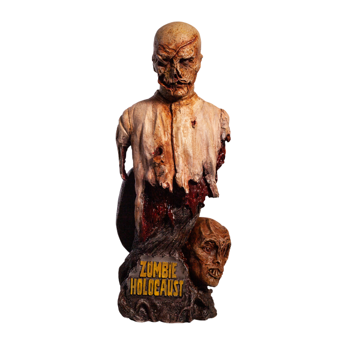 Trick or Treat Zombie Holocaust Poster Zombie Bust