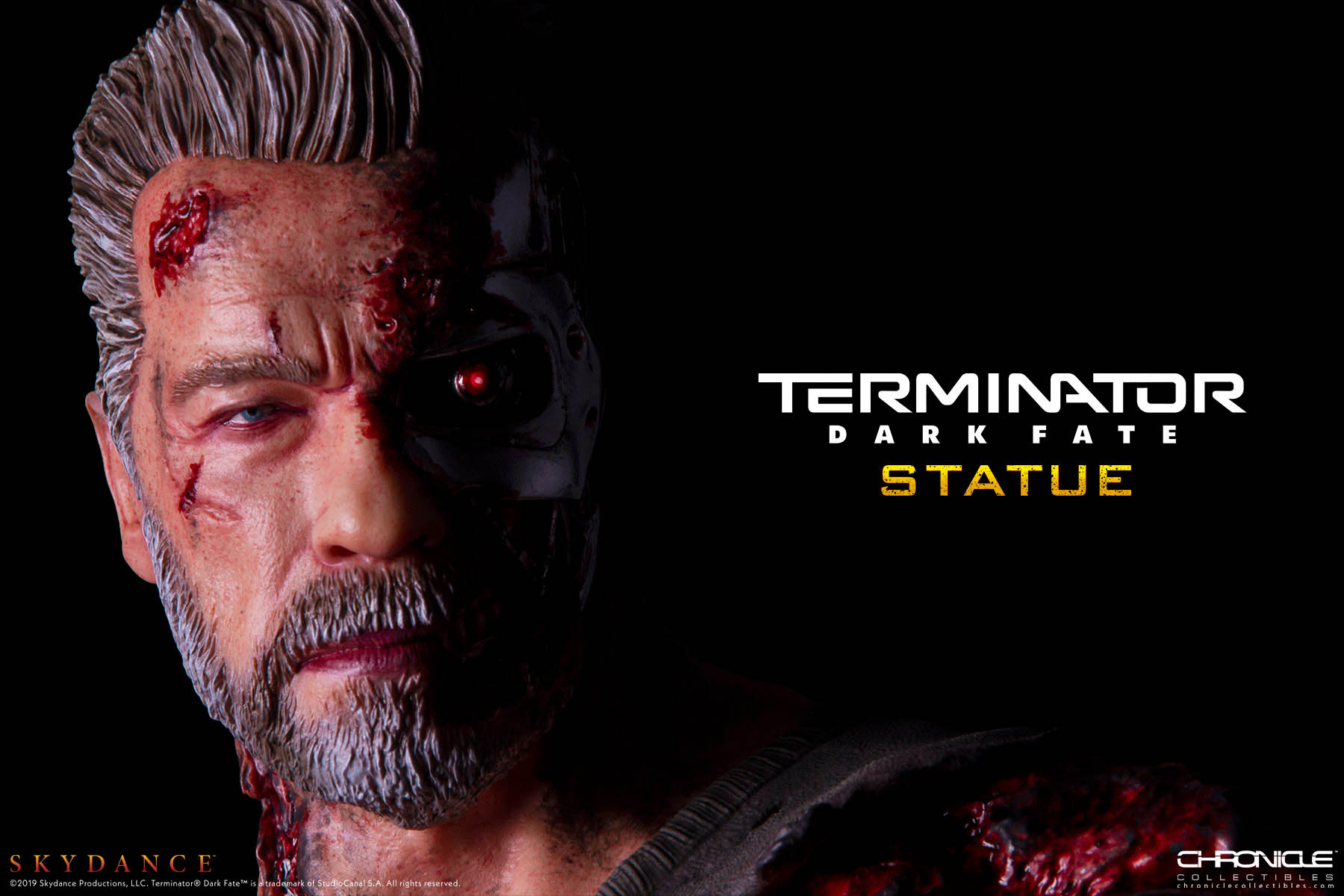 Pre-Order Chronicle Terminator Dark Fate T-800 1/4 Scale Statue
