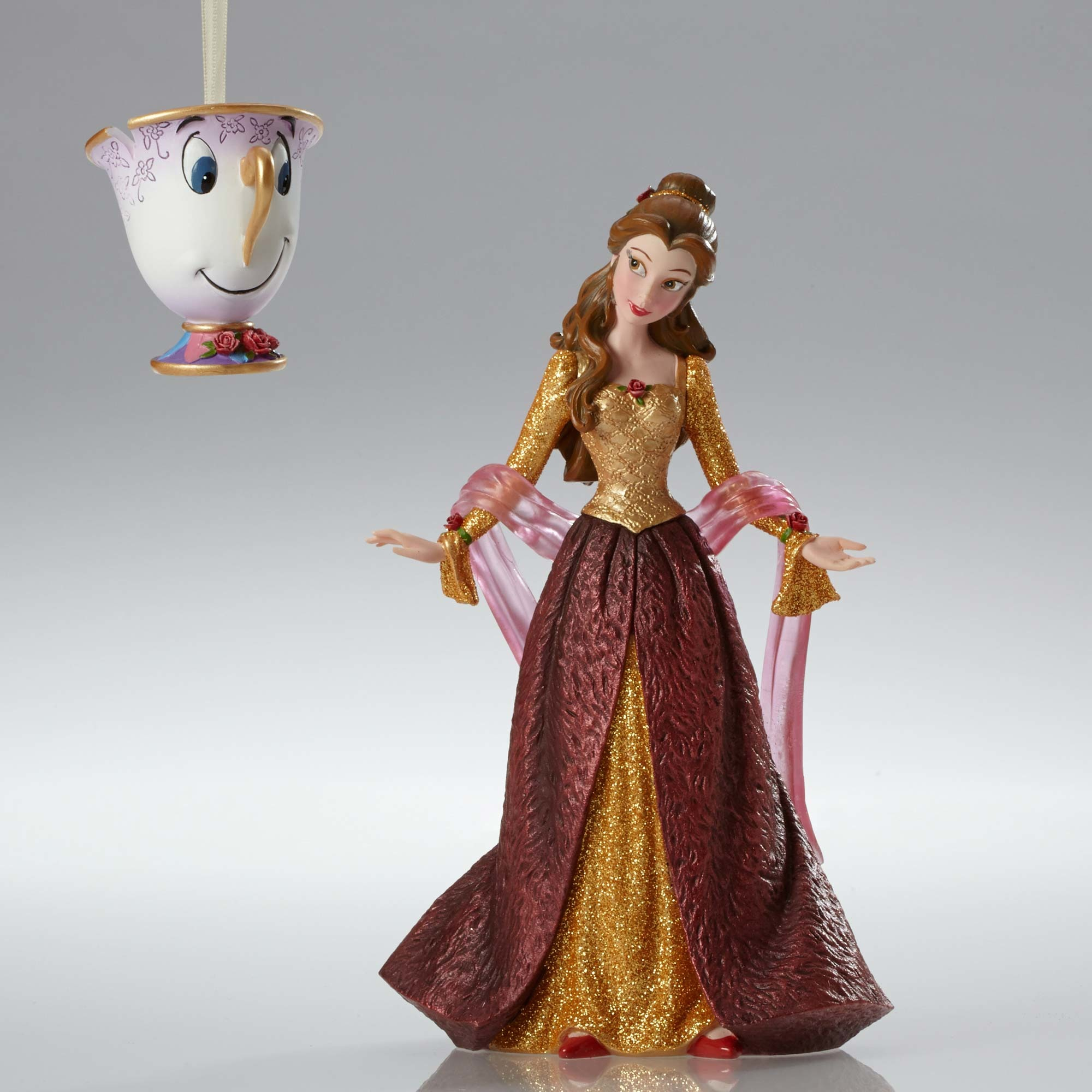 Disney Showcase Belle Couture de Force w/Chip Christmas Figurine