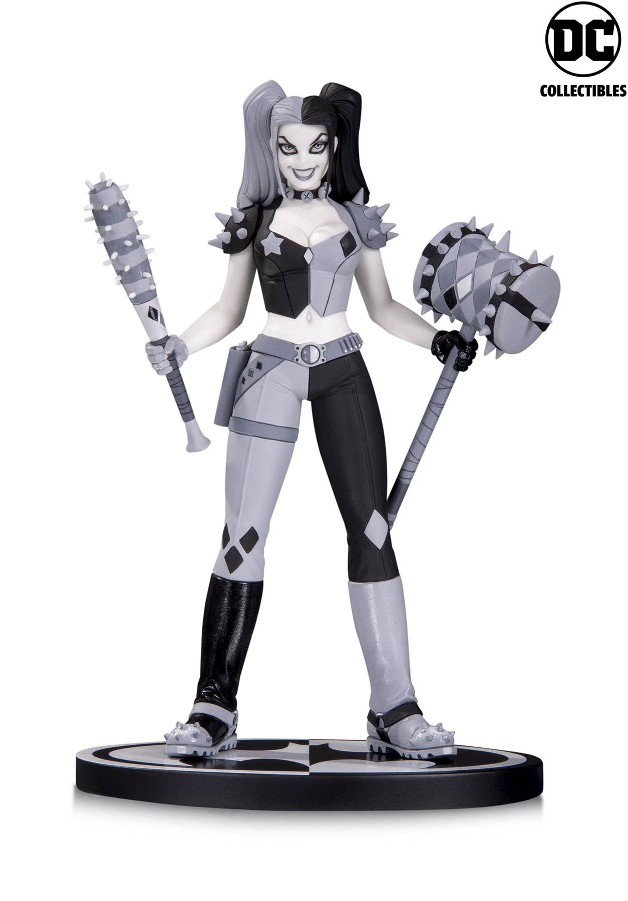 DC Comics Batman Black & White Amanda Conner Harley Quinn Statue