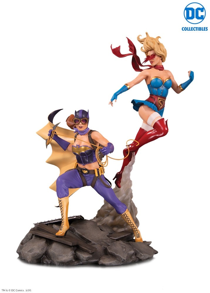 DC Comics Bombshells Celebration Batgirl & Supergirl Statue