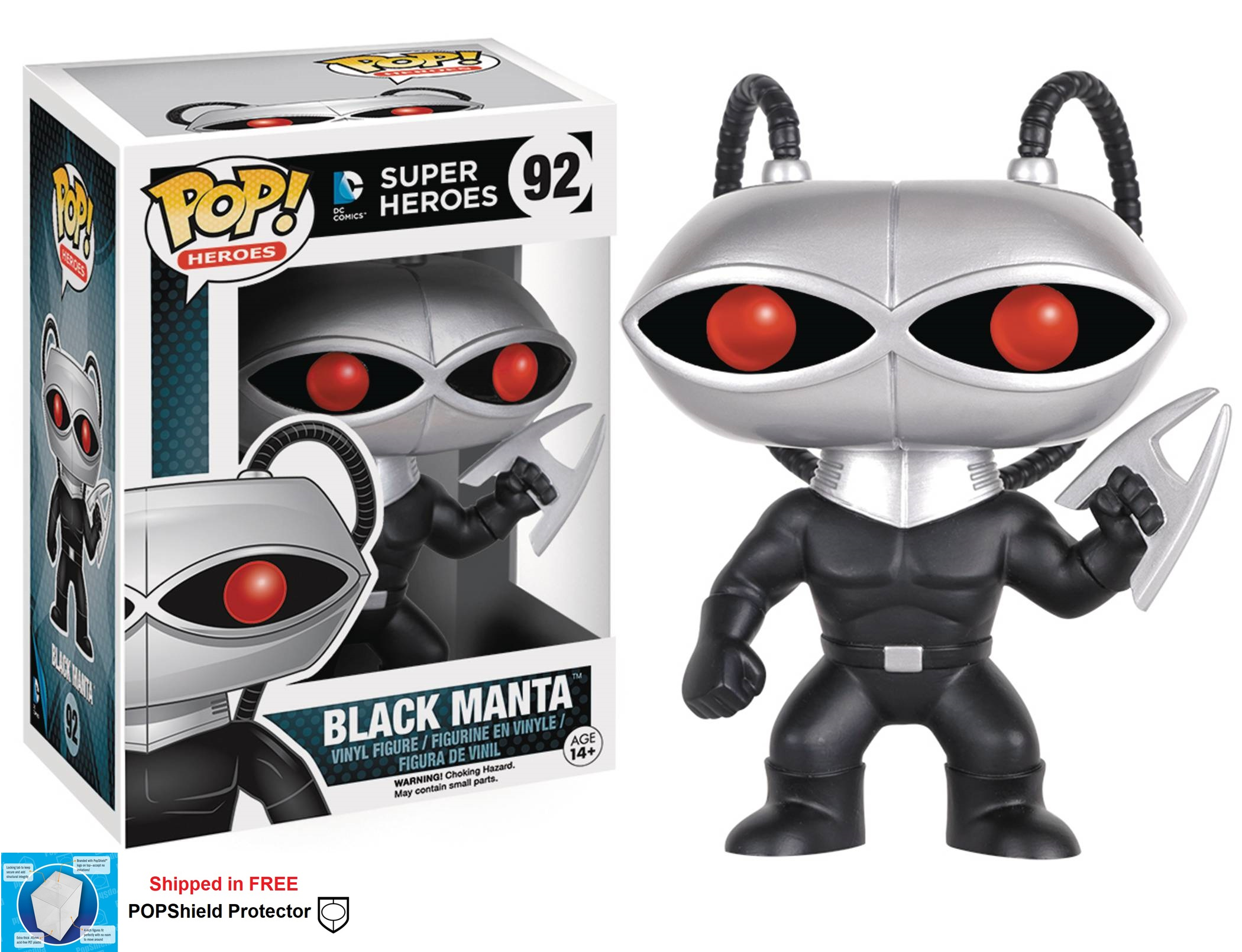 Funko POP DC Comics Black Manta Figure - #92