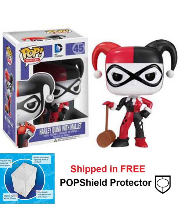 Funko POP DC Comics Harley Quinn with Mallet Figure - #45