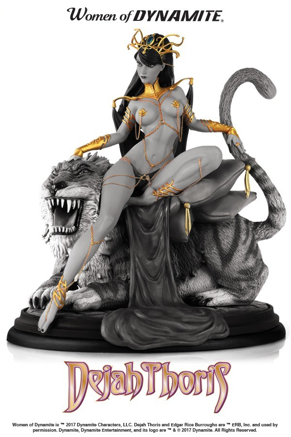 Dynamite Dejah Thoris Campbell Black & White Statue