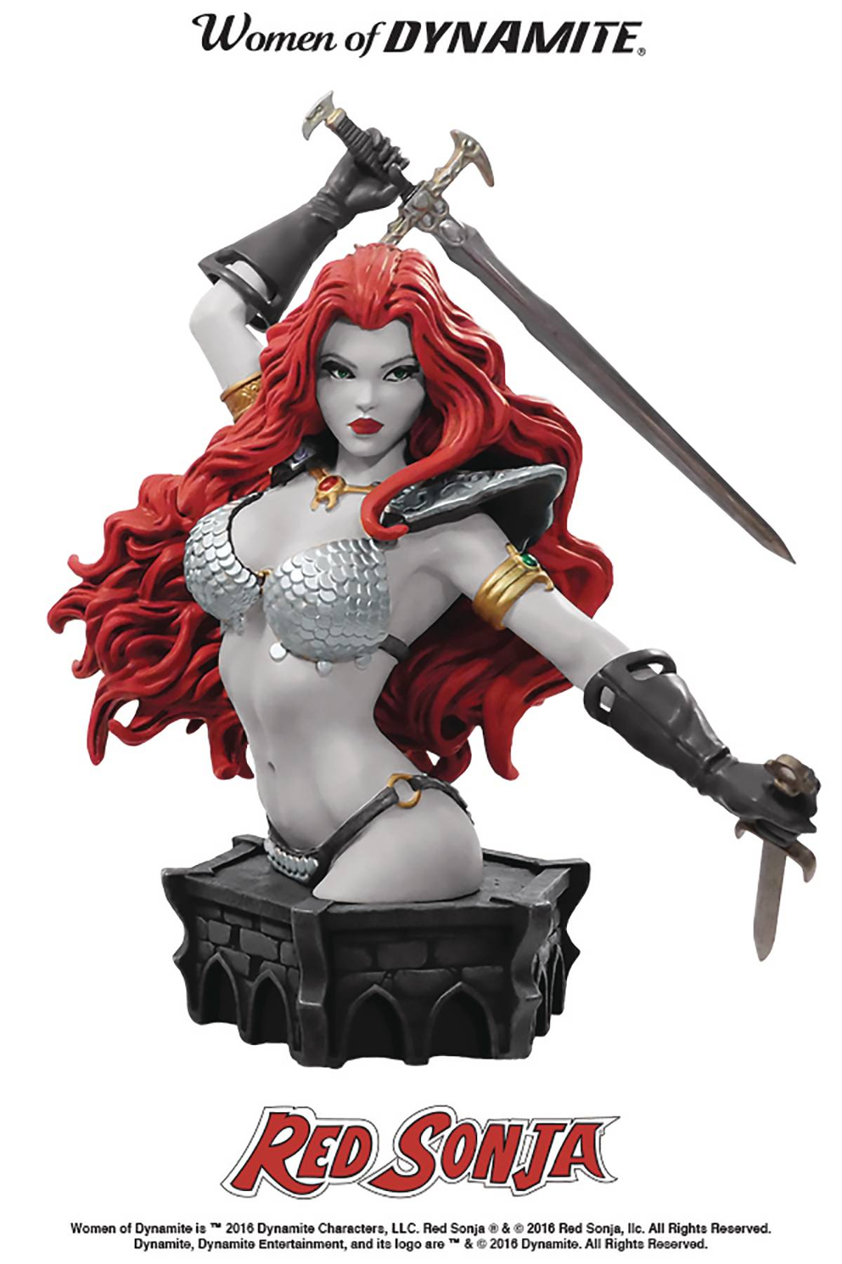 Dynamite Red Sonja Arthur Adams Black & White Bust