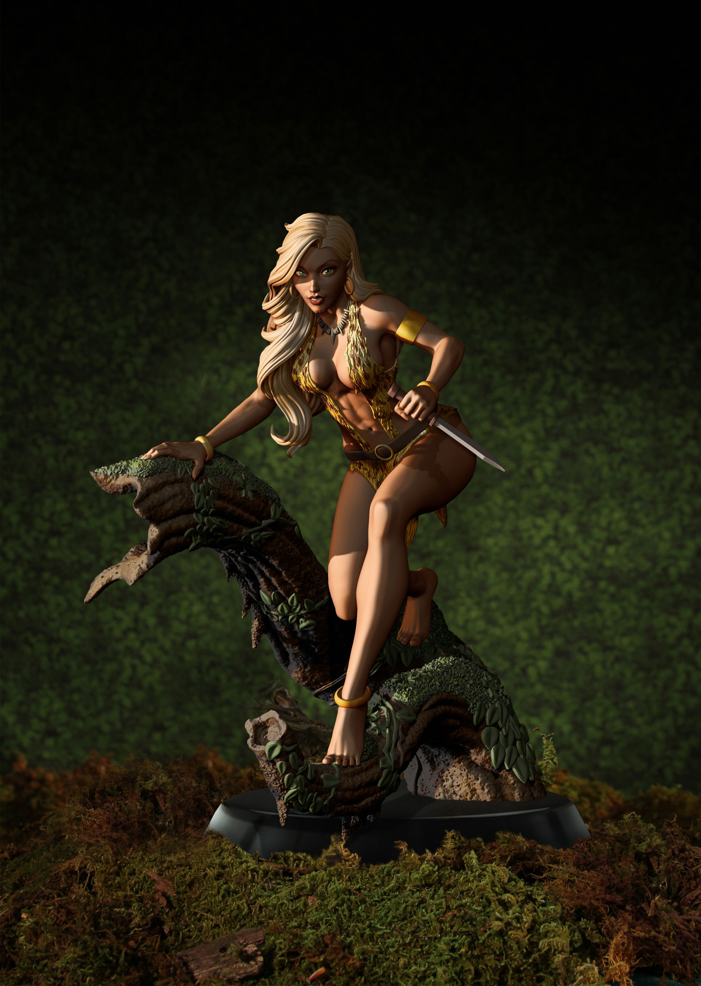 Pre-Order Dynamite Sheena Queen of The Jungle Statue