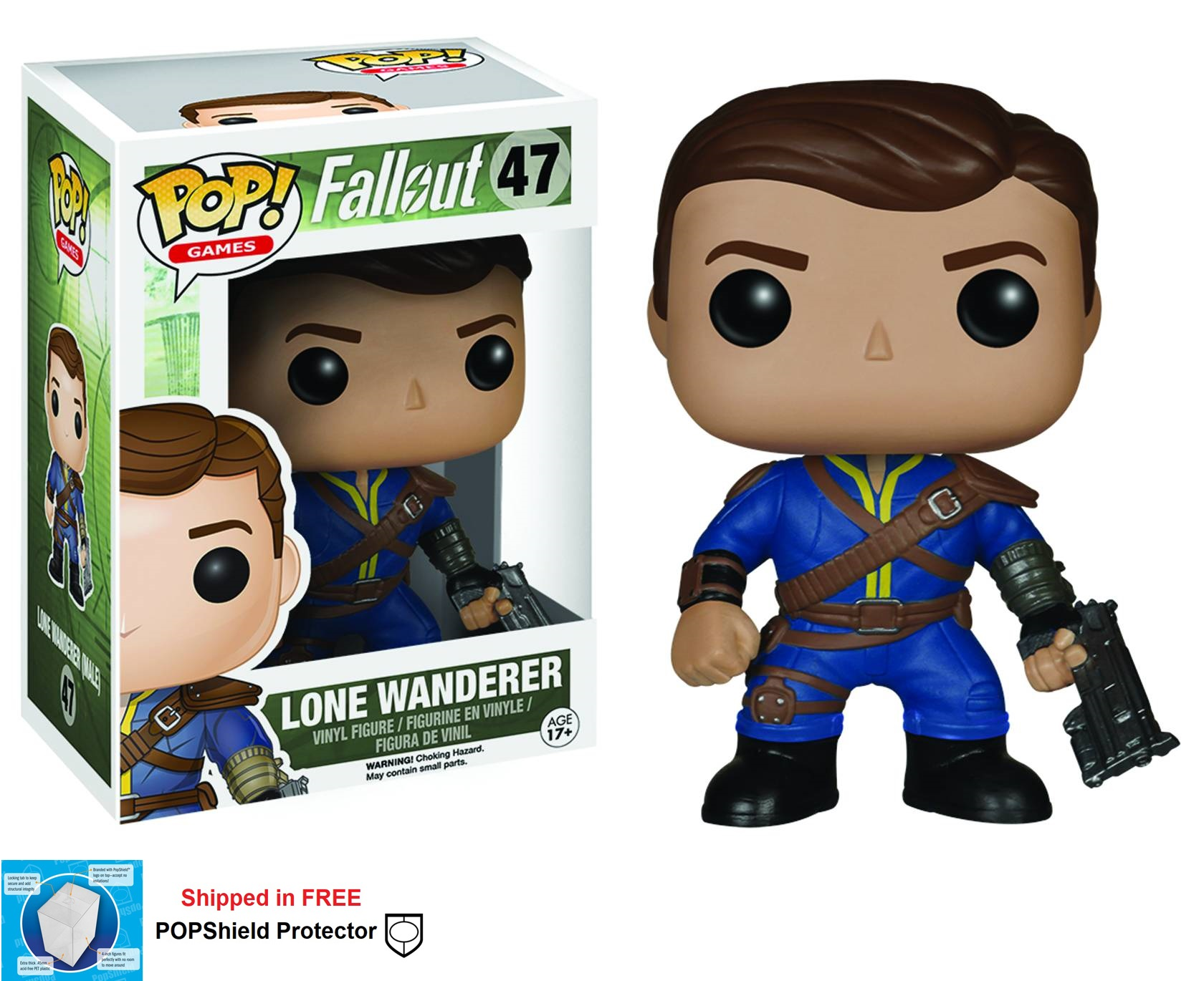 Funko POP Games Fallout Lone Wanderer Male Figure - #47