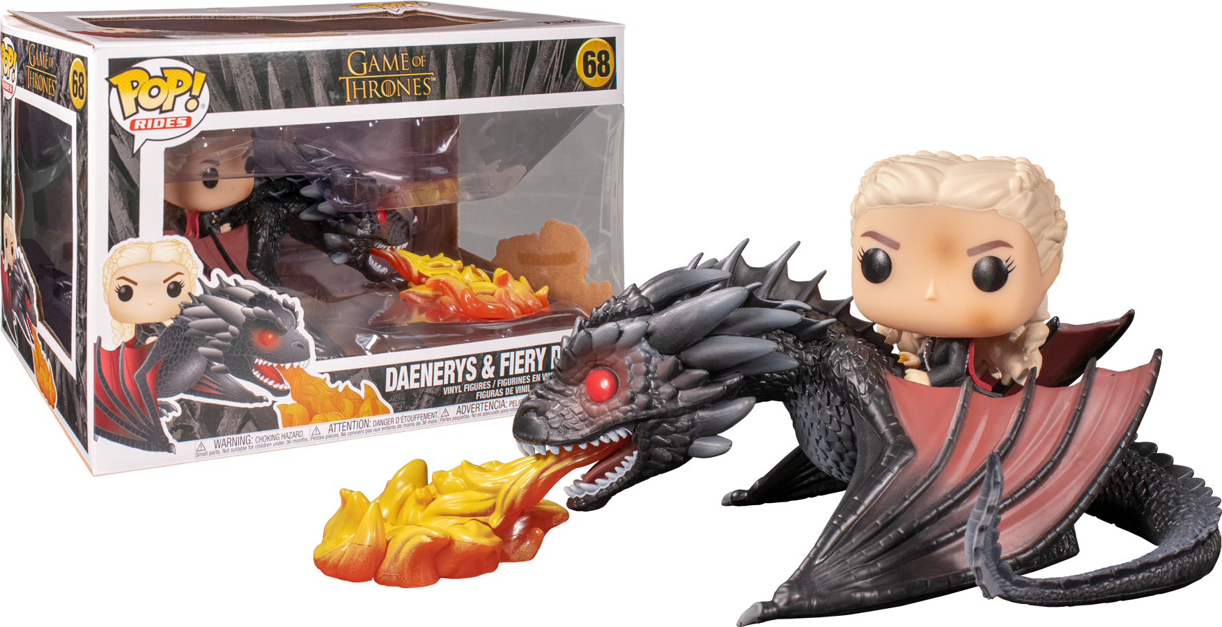 Funko POP Game of Thrones Daenerys & Fiery Drogon - #68