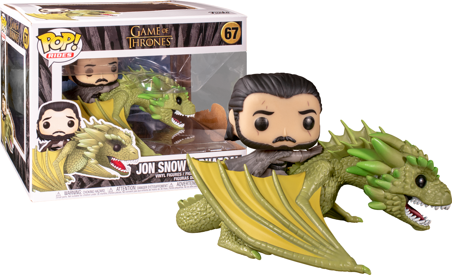 Funko POP Game of Thrones Jon Snow & Rhaegal Figure - #67