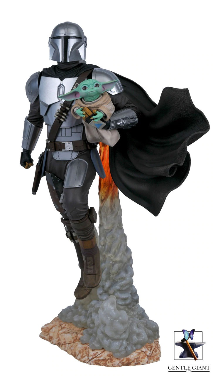 Pre-Order Gentle Giant Star Wars Mandalorian & Child Statue