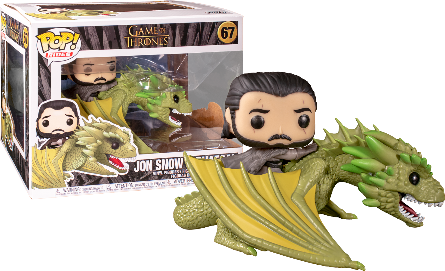 Funko POP TV Game of Thrones Jon Snow on Rhaegal Figure - #67