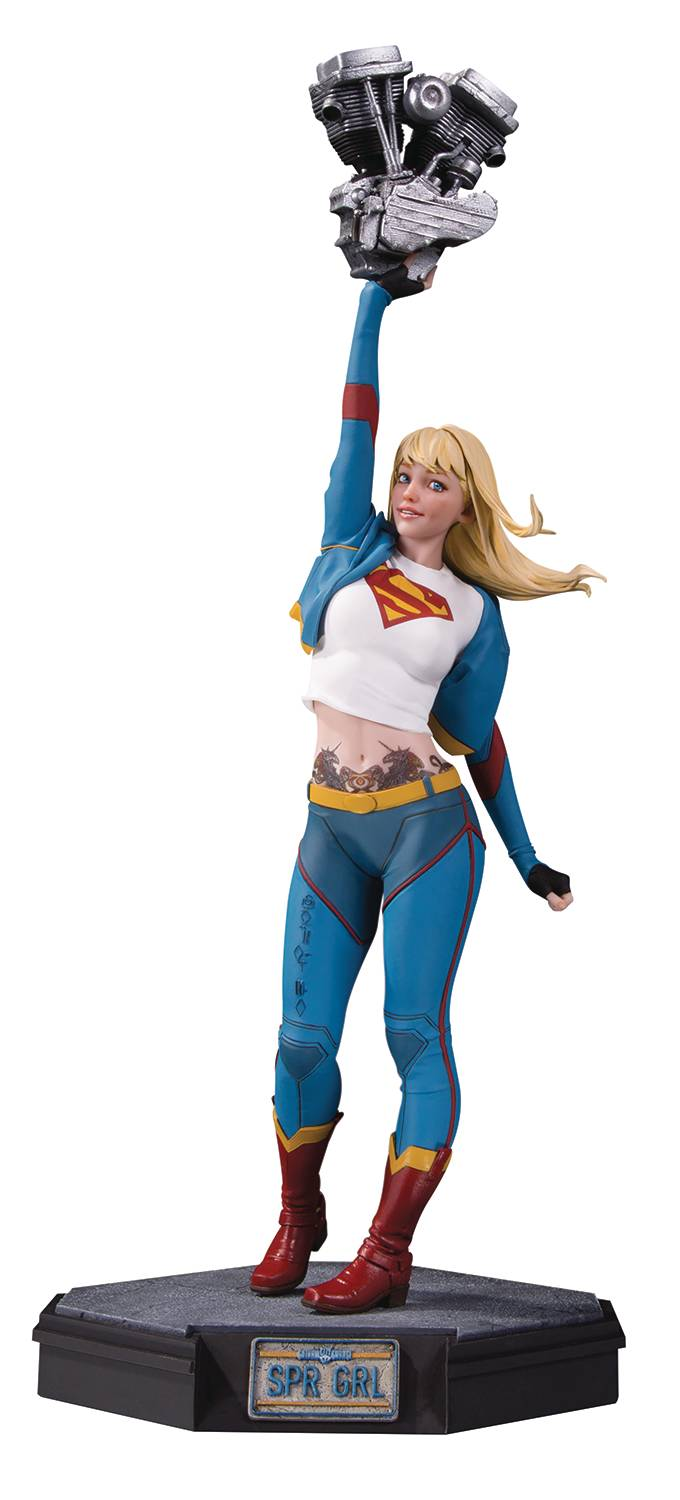 DC Comics Gotham City Garage Supergirl Statue