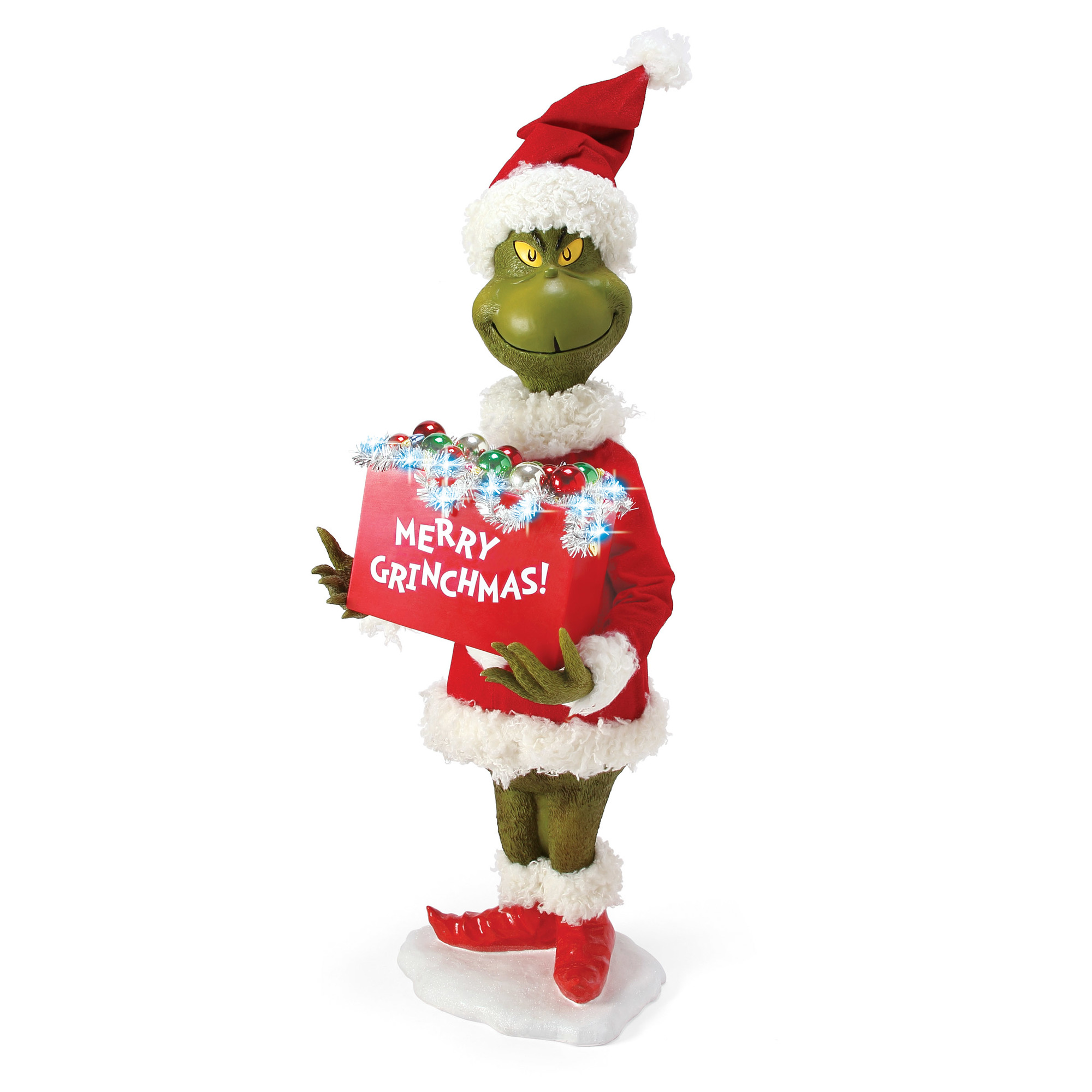 Possible Dreams Grinch Merry Grinchmas Light Up Figure