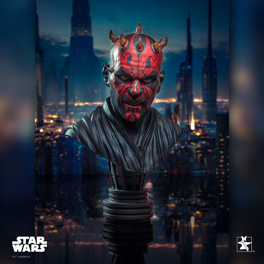 Gentle Giant Star Wars Darth Maul Legends in 3D 1/2 Scale Bust