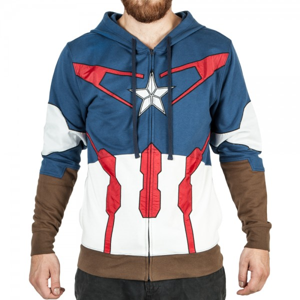 Bioworld Marvel Captain America Avengers Suit Up Hoodie