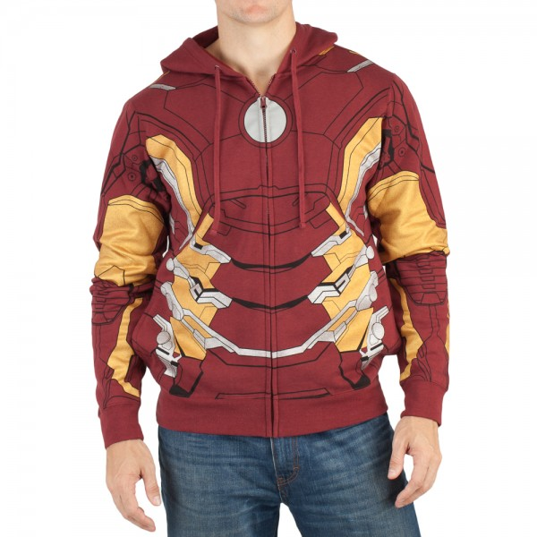 Bioworld Marvel Iron Man Avengers Suit Up Hoodie