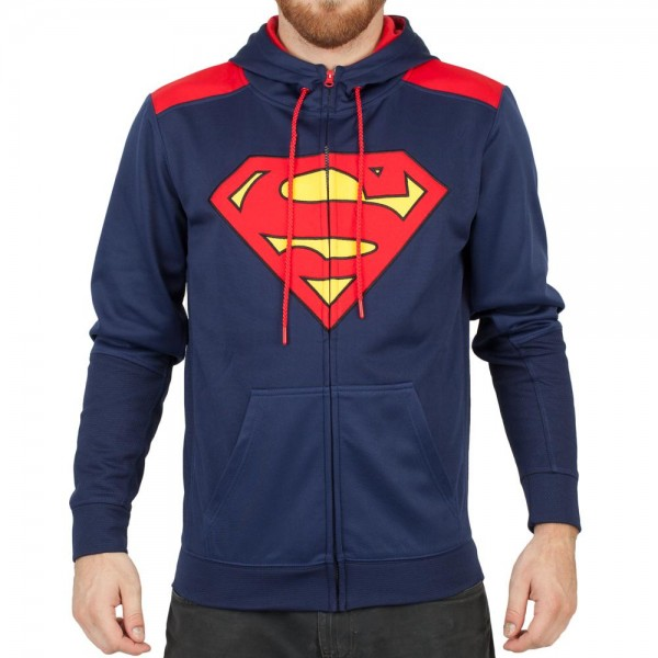 Bioworld DC Comics Superman Pieced Poly/Dry Fit Hoodie