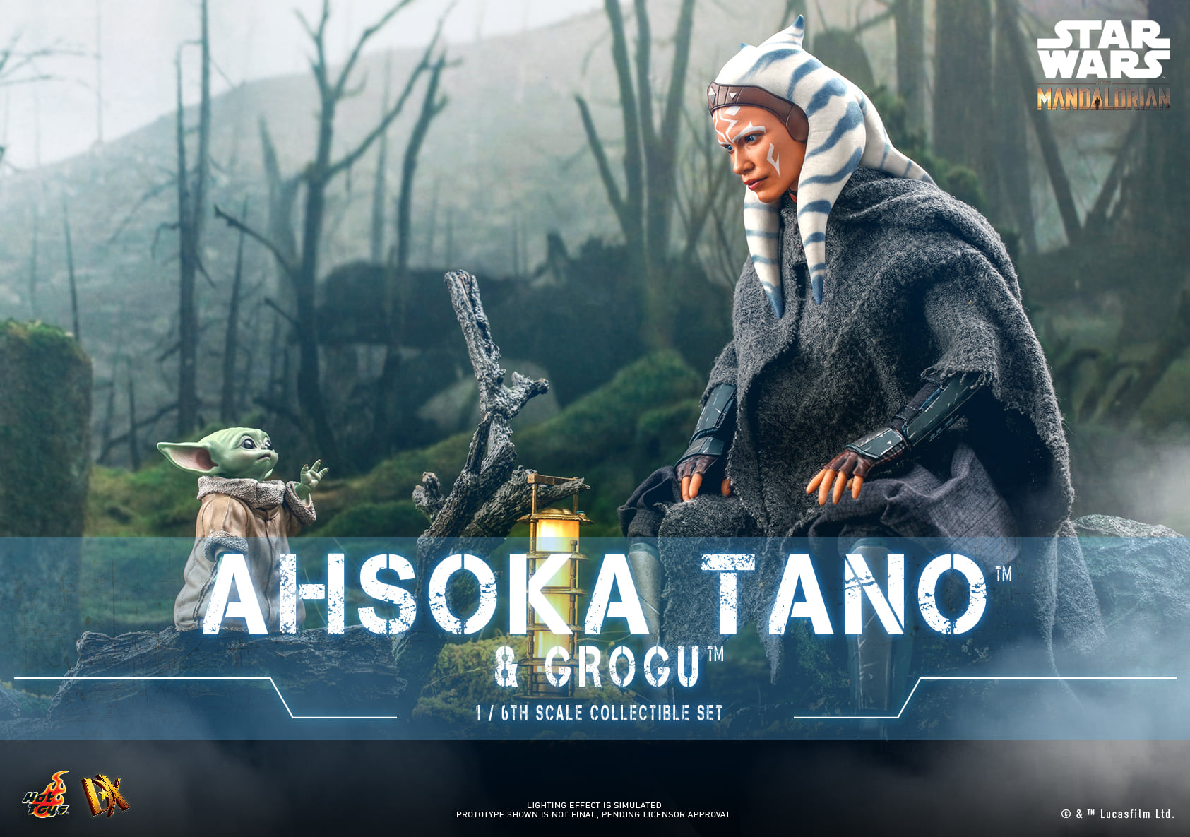 Pre-Order Hot Toys Star Wars The Mandalorian Ahsoka Tano & Grogu