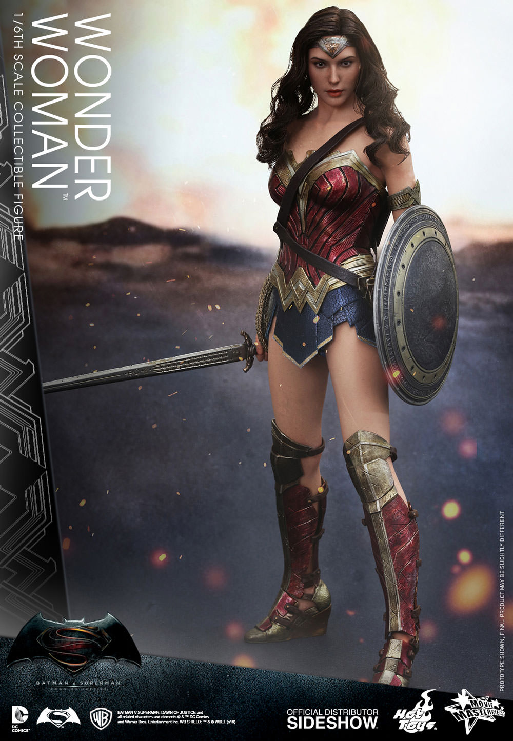 Hot Toys DC Comics BvS Wonder Woman Sixth Scale Figure