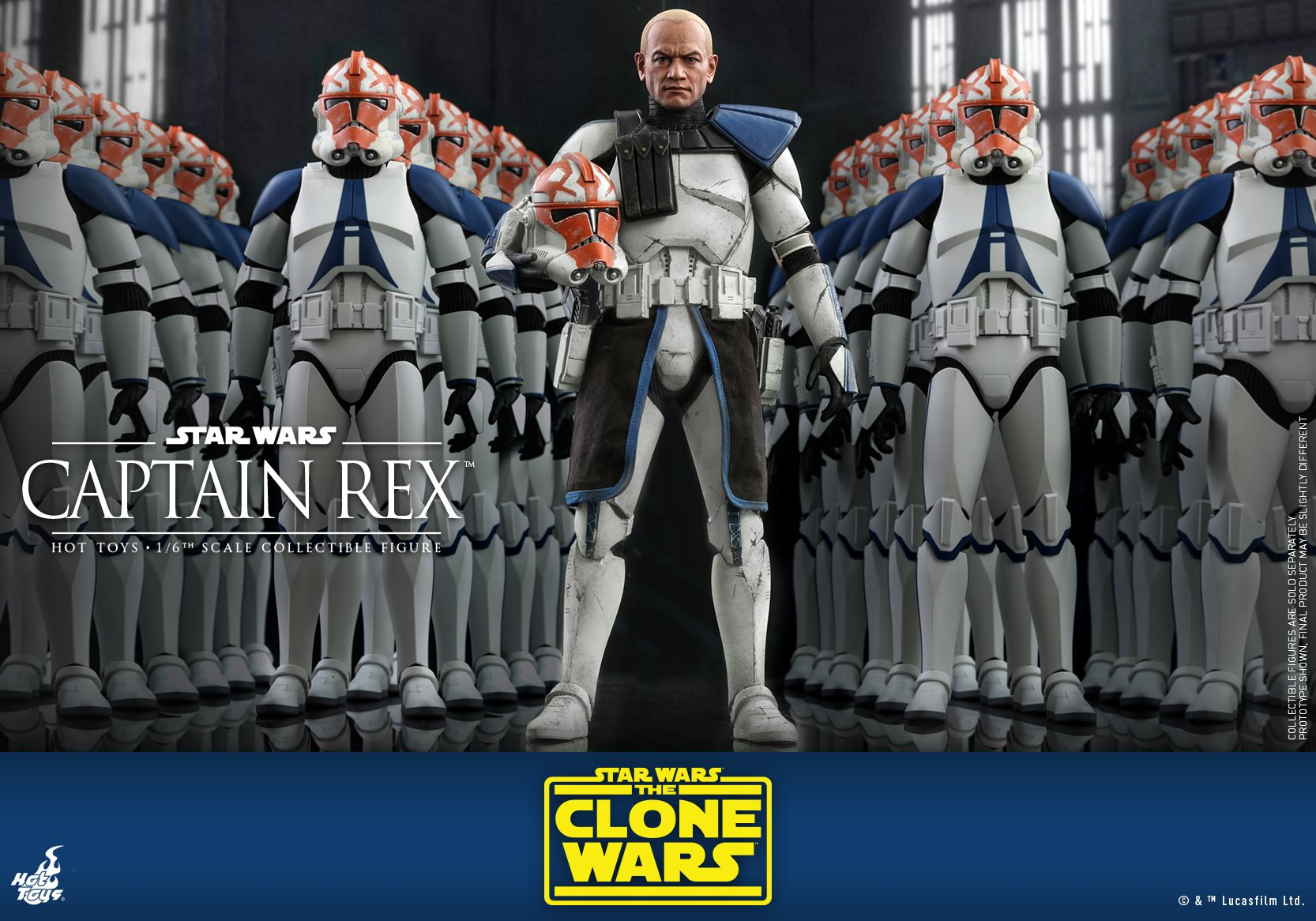 Pre-Order Hot Toys Star Wars Captain Rex Sixth Scale Figure