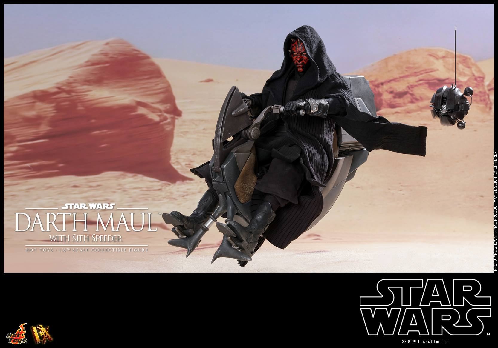 Pre-Order Hot Toys Star Wars Darth Maul w/Sith Speeder Set