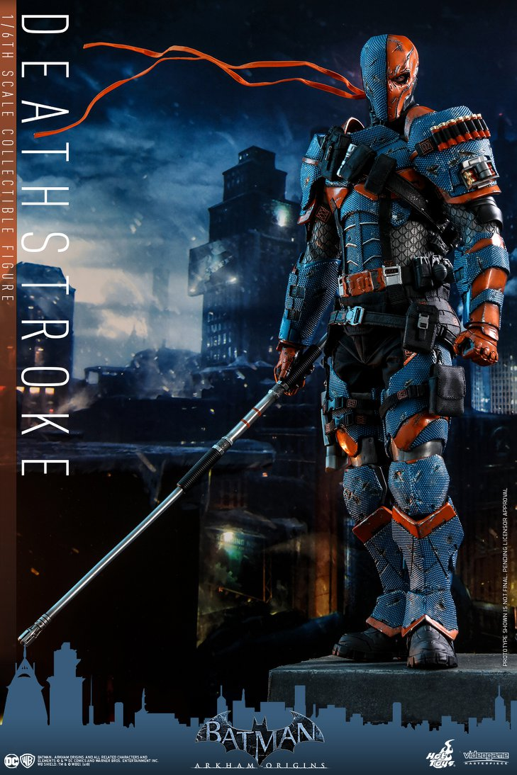 Hot Toys DC Comics Deathstroke Arkham Origins Sixth Scale Figure