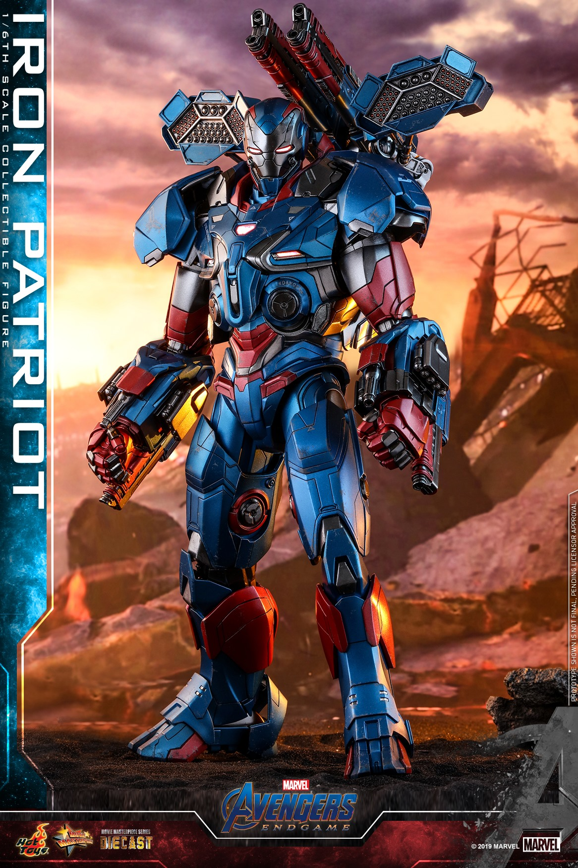 Pre-Order Hot Toys Marvel Iron Patriot Diecast Figure