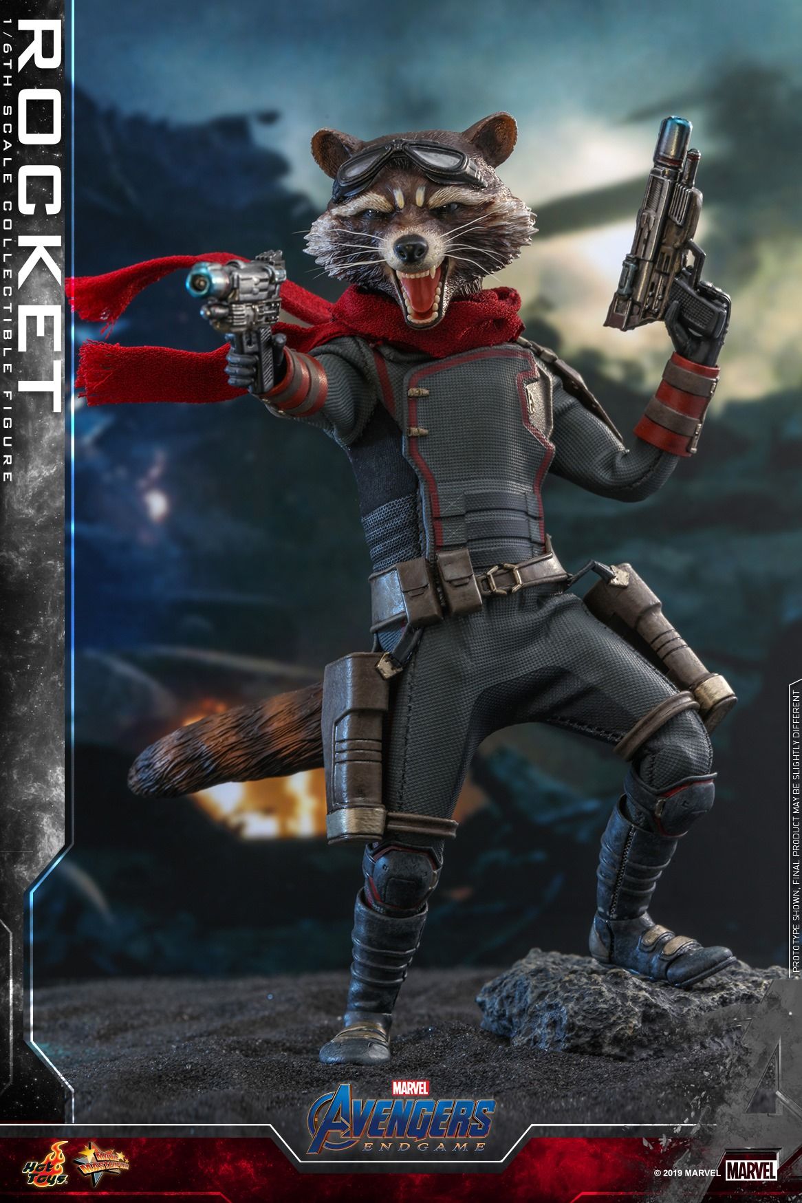 Pre-Order Hot Toys Marvel Rocket End Game Sixth Scale Figure