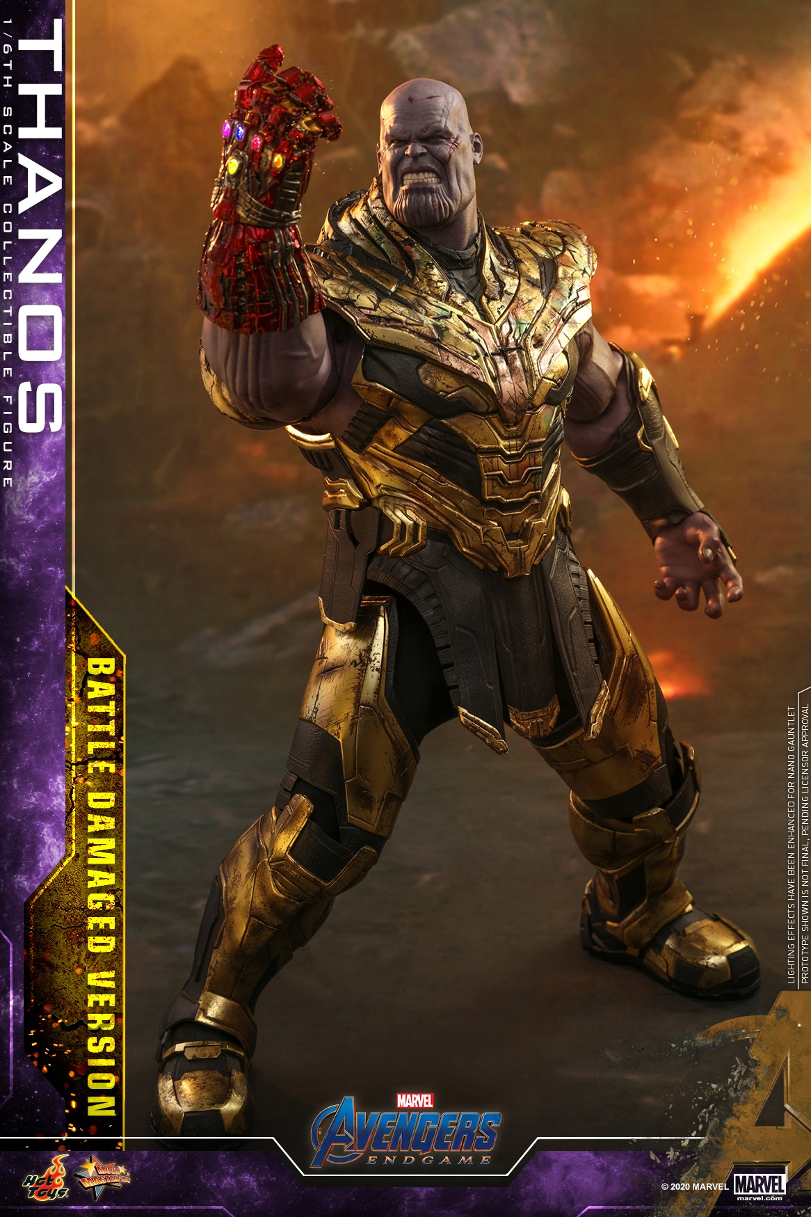 Pre-Order Hot Toys Marvel Thanos Battle Damaged End Game Figure