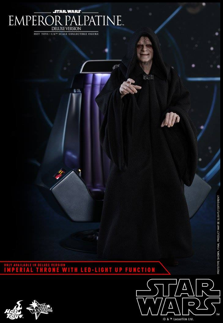 Hot Toys Star Wars Emperor Palpatine Deluxe Sixth Scale Figure