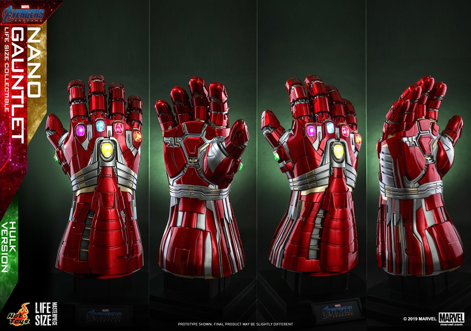 Pre-Order Hot Toys Marvel End Game Life Size Hulk Nano Gauntlet