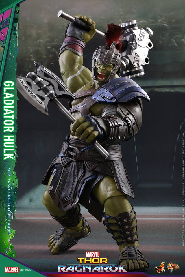 Hot Toys Marvel Gladiator Hulk Thor Ragnarok Sixth Scale Figure