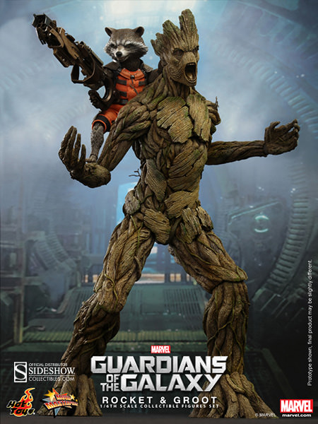 Hot Toys Marvel Guardians of the Galaxy Rocket & Groot